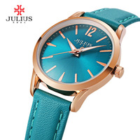 2017 New Luxury Julius Women Watch Fashion Simple Sport Ladies Bracelet Watches Waterproof Genunie Leather Relogio