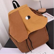 Personalized Funny Cartoon Cute Backpack Cancas Drawstring Harajuku Backpack Women High Quality School Bags For Teenage Bookbag