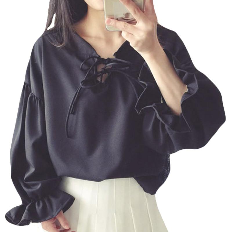 Online Get Cheap Black Shirt White Collar Womens -Aliexpress.com ...