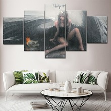 Wall Art Modern 5 Pieces HD Printing Canvas Painting Ghost blade Type Poster For Home Decorations Bedroom Living Room Artwork