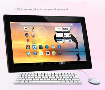 15.6 inch industrial all in one pc for advertising USB jack panel pc