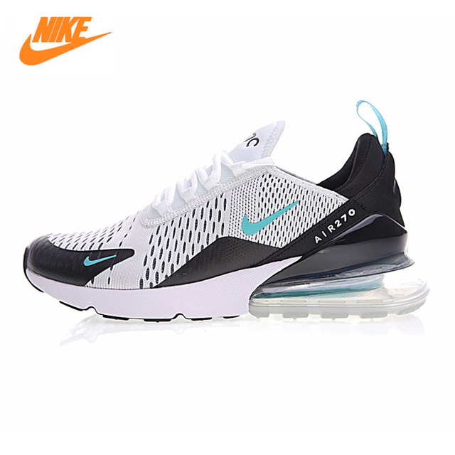 NIKE AIR MAX 270 Air Cushion Men's Running Shoes ,White Blue ,Shock  Absorbent Breathable