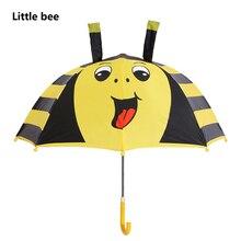 hot deal buy lovely little bee cartoon patterns umbrellas kids children paraguas parasol lovely boys girls umbrellla rain sunny umbrellas-01