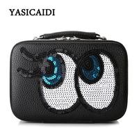 Brand Cute Eyes Women Cosmetic Bag Organizer Toiletry Kits Necessity Travel Lovely Waterproof Portable Makeup Bag