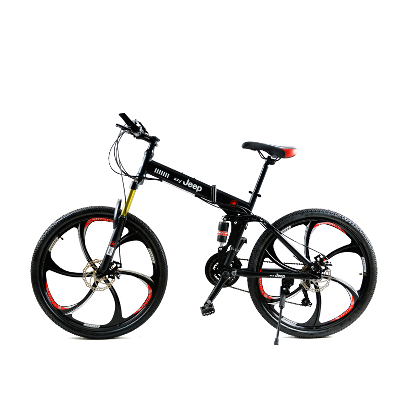 HAO YUKNIGHT One-Wheeled Tiger Folding Mountain Bike 21-speed Double-Shocked Two-Disc Brakes Bicycle масляная живопись yue hao yh0334 7585