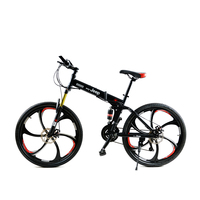 Mountain Bike 21 Speed 26 Inch Round Two Disc Brakes Male Shift Lock Damp Front Fork