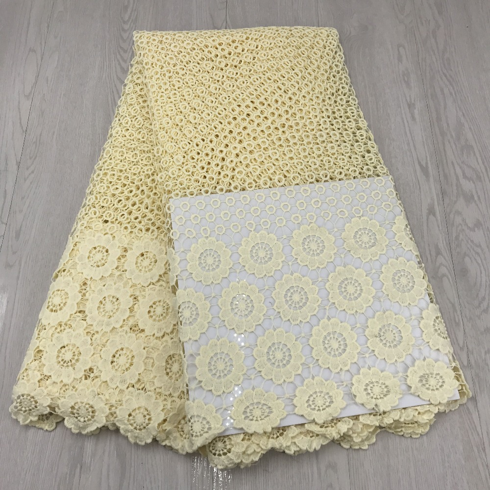 Cotton Cream Color Lace Fabric Latest High Quality Cupion Lace African Cord Laces Guipure Cord Lace