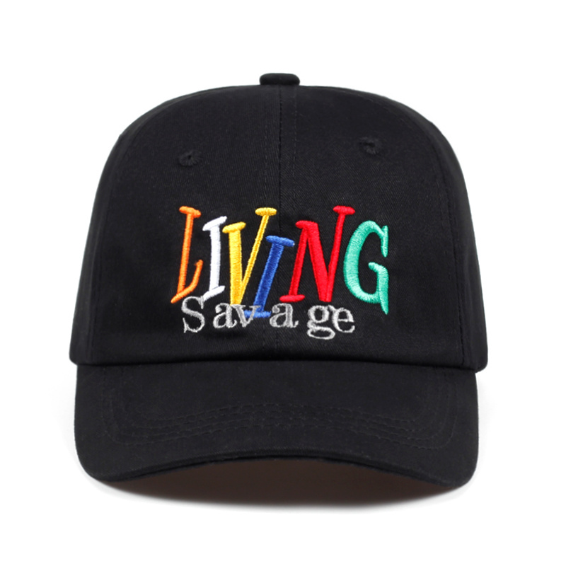 2018 new LIVING Savage dad hat men women Cotton% high-quality   baseball     cap   fashion snapback Hip-hop Bone Garros golf   cap   hats