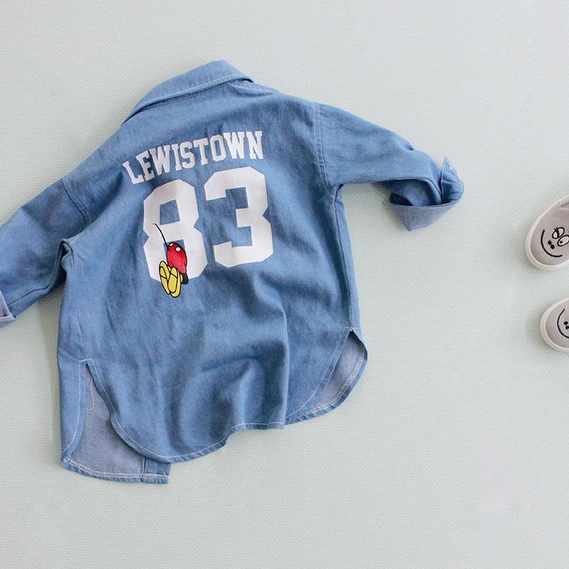 2016 Új divat Bébi ingek Gyermek farmer pólók Lány alkalmi - Gyermekruházat - Fénykép 2