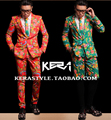 S-4XL ! 2016 New men's slim Large red green suit jacket suit men's performance costume singer costumes clothing formal dress