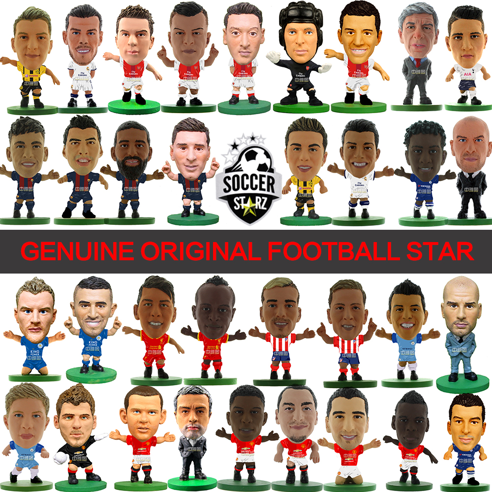 Soccerstarz (2017 version) Hand-Painted 5cm Classic Soccer Star Doll Home Kit Figures Fashion Football Star Dolls for Collection kodoto soccerwe roma totti football soccer moveable star collection dolls toy figures