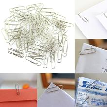 1 Set 100Pcs New Office Plain Steel Paper Clips 29mm Paperclips Metal Silver Clip