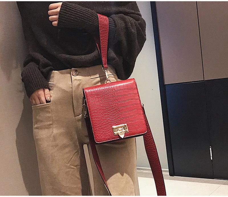 DIINOVIVO Fashion Alligator Female Handbags Designer Crossbody Bags for Women Small Square Bag Shoulder Messenger Purse WHDV0917 9