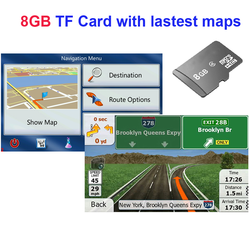 16GB MicroSD GPS North America Map Card w//Navigation Software /& maps for WIN CE