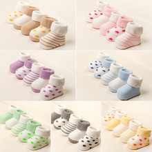 0-3 Years Cute Newborn Baby Winter Socks Warm Soft Pure Cotton Terry Socks For Baby Boys Girls Toddler Floor Anti-Slip Sock Babe