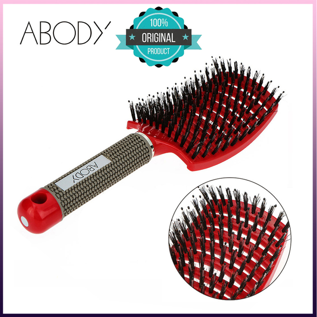 Hot Sales Abody Hair Brush Professional Hairbrush Comb Women Hair Scalp tangle Hairdressing Supplies brushes combs for hair set