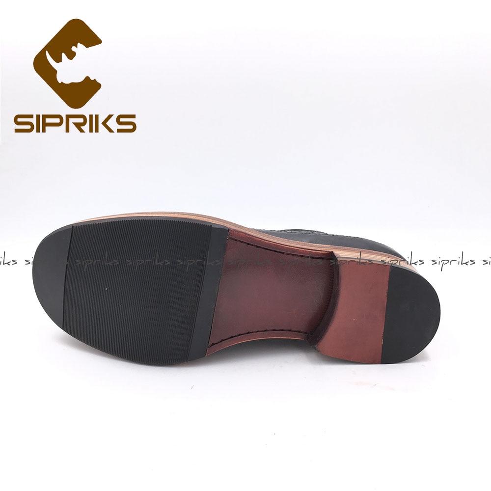 Zapatos Becerro Negro Nuevo Sipriks Brogue De Caballeros Retro Gamuza Welted Vaca Para Hombre Traje Cuero Estilo Goodyear Calzado xBfvqvP0w