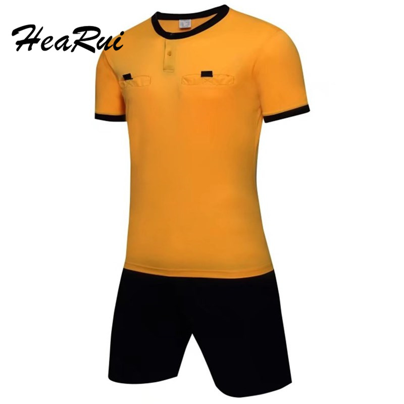 Men's Professional soccer referee uniform adult's sports suits football referee kits de futbol judge jerseys maicca quality soccer corner flag football referee flags wholesale 4pcs pack