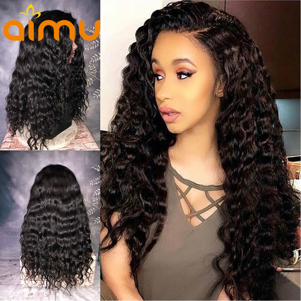 Wet And Wavy Human Hair Wigs 180 Density Preplucked Lace Front Wigs With Baby Hair Malaysian