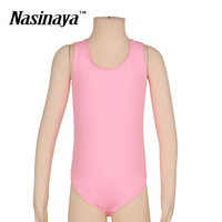 Kid Girls Rhythmic Gymnastics Leotard RG Fitness Wear Leotard Ballet Dance Dress Costume Pink Children Training Clothes Vest