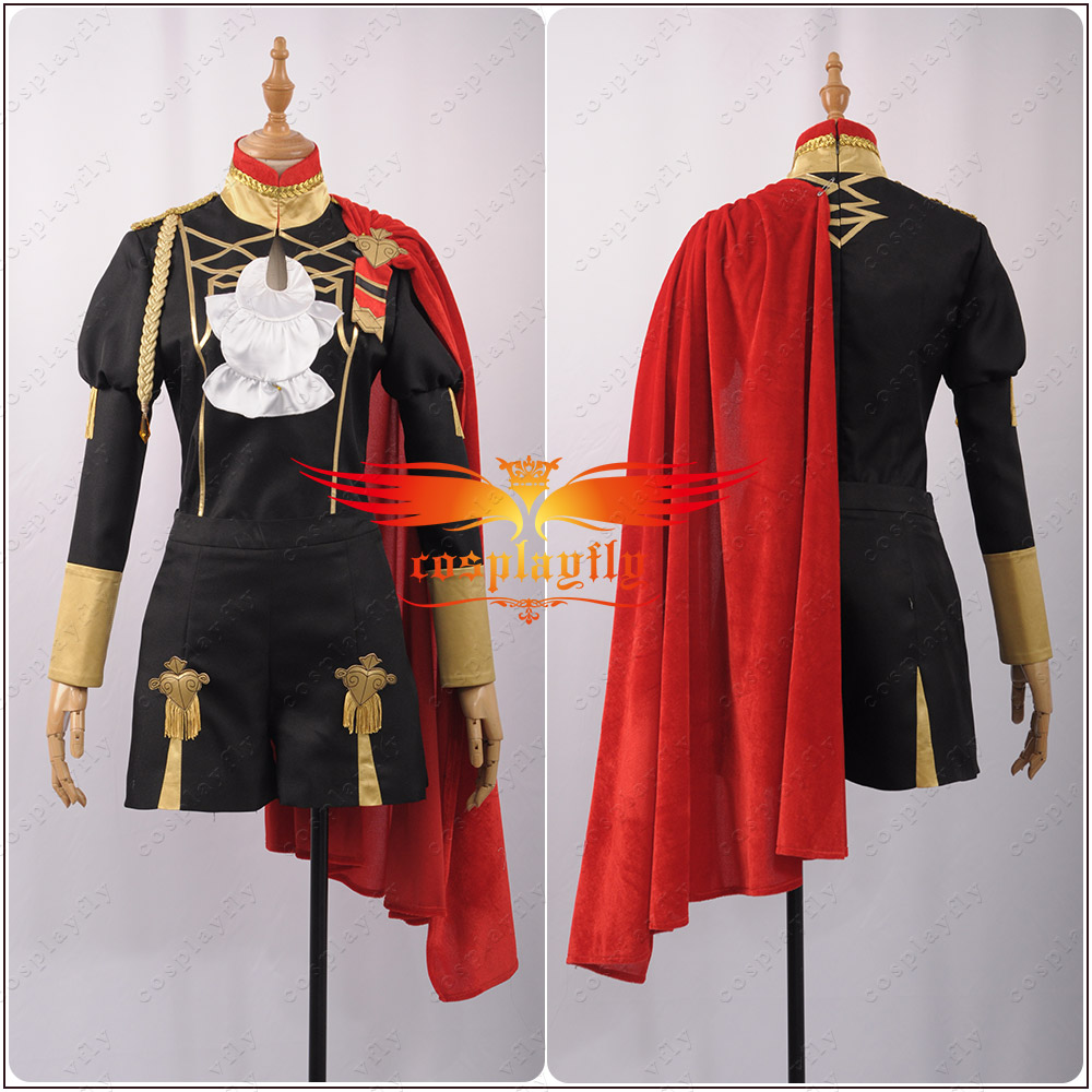 Custom Size Fire Emblem: Three Houses Edelgard Fancy Battle Stage Girls Cosplay Costume Adult Outfit Top+Shorts+Cloak+Leggings