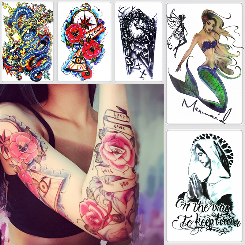 FGHGF  15 designs Waterproof Temporary Tattoo Sticker eye of God totem myth arrow tatto stickers flash tatoo fake tattoos for