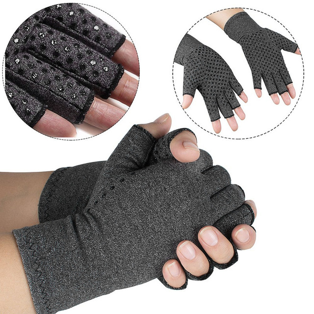 1Pair Compression Therapy Fingerless Gloves 3