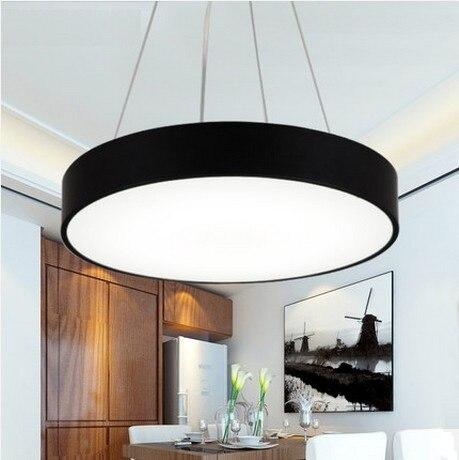 цена на Nordic Simple Creative Round Acrylic Droplight Modern LED Pendant Lamp Fixtures For Dining Room Hanging Light Home Lighting