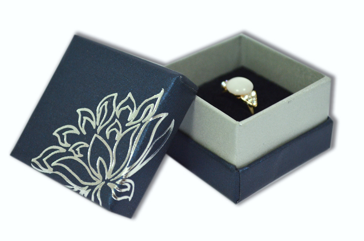 2015 Hot Wholesale Jewelry Boxes 12 pcslot Flower Hat Box Ring Blue