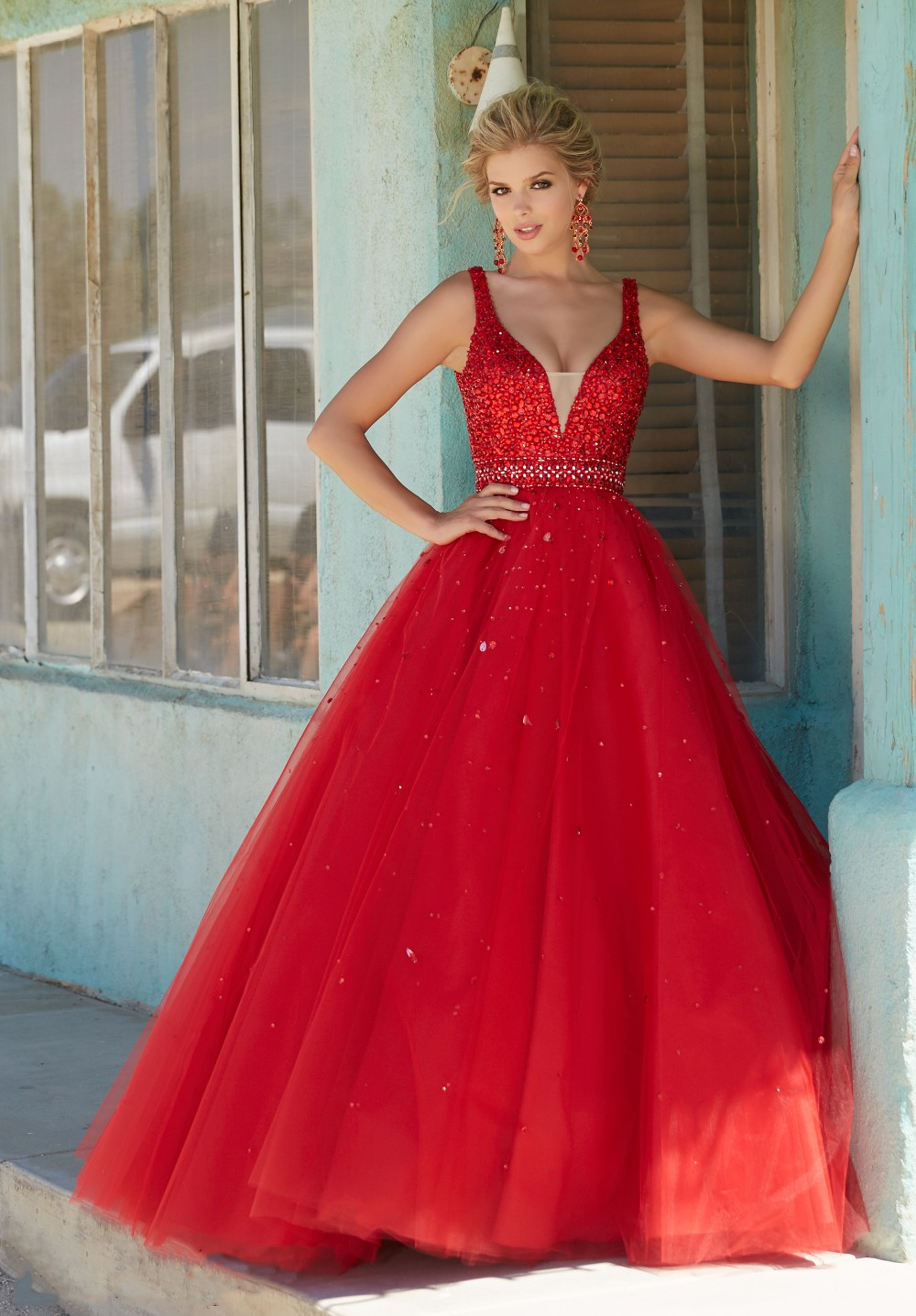 Masquerade Dresses in Red a Line