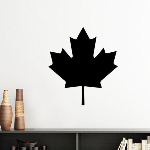 red maple leaf canada country culture symbol silhouette removable