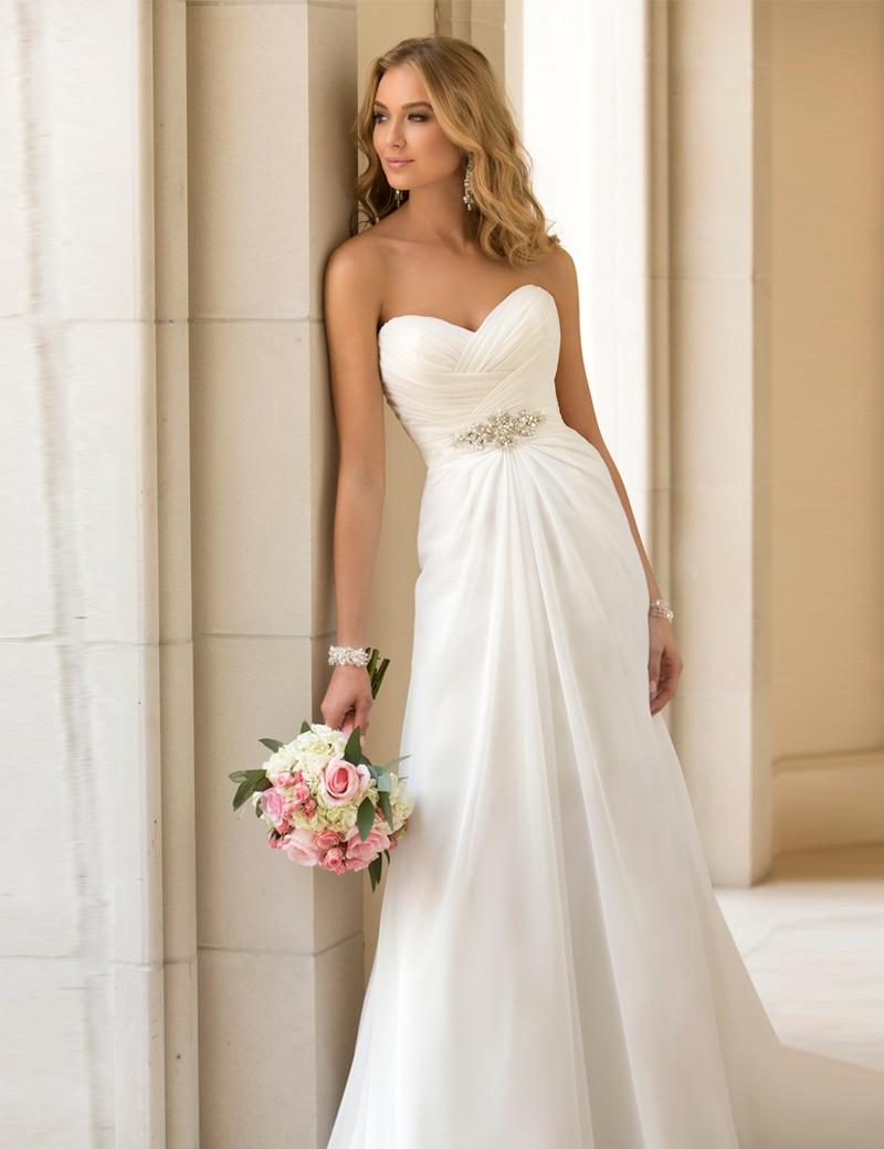 Vestidos De Novia Sexy Chiffon Beach Wedding Dress Vintage Boho Cheap 2016 Robe Mariage Bridal Gown Customized In Dresses From