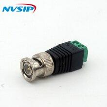 10 pçs/lote 2.1x5.5mm DC Power Plug Conector BNC Fêmea Adaptador DC fonte de Alimentação Para CCTV Câmera de Vigilância Câmera IP
