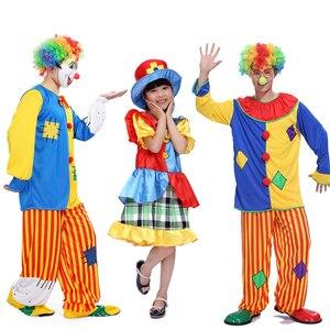 Image 2 - 2016 nieuwe promotionele Halloween kostuum volwassen clown kostuum magic show kleding maskerade kostuums Clown serie