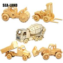 A Toys For Children 3d Puzzle Diy Wooden Mixer Truck Kids Also Suitable Adult Game Gift Of High Quality Wood