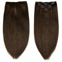 """Neitsi Человеческие волосы Remy для наращивания на заколках, 2"""" 24"""", 7 шт., 16 клипов, 8 цветов, Натуральные Прямые волосы на заколках, быстрая"""