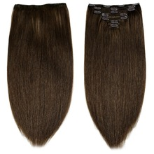 Human-Hair-Extensions Neitsi Straight-Clip Double-Drawn 16-Clips Remy Natural 20-24-7pcs