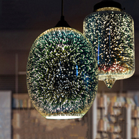 New Amazing 3D Modern Led Pendant Lights Lamp Ball Nordic Creative luminaire suspendu Home Art decor loft hanglamp Glass