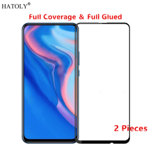 2Pcs Huawei Y9 Prime 2019 Glass Tempered Film Full Glue Phone Screen Protector