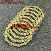 For Kawasaki ZR750 Zephyr 750 1992 2006 Paper Based Clutch Friction Kit Disc Plates Set Motorbike Parts Accessories