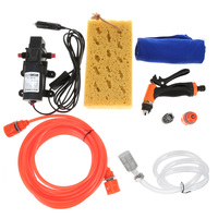 60W High Pressure 12V Car Washing Machine Device Cleaning Pump Portable Car Cigarette Lighter Vehicle Washer