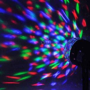 Image 2 - Mini RGB LED Crystal Magic Ball Stage Effect Lighting Lamp Bulb Party Disco Club DJ Light Show Lumiere