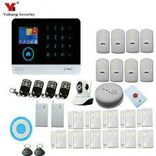 YoBang Security WiFi GSM Touch Keyboard Wireless Home Alarm System Intruder Burglar Alarm System And Wireless Smoke Detector.