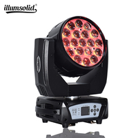 Guangzhou factory 19x15w Show Beam Stage Led wash zoom led aura moving head Disco light