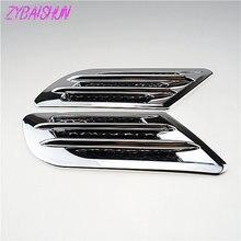 2 pezzi/set. Car Side Vent Aria Parafango Ammissione Autoadesivi Della Decorazione per Mercedes-Benz tutte le classe A B C E S G M ML CL CLK CLS GL GLK