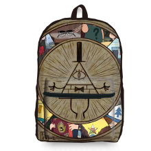 Brand New Unique 3D Gravity Falls Map Loptop Backpack Women OutdoorTravel Bag Preppy Casual Large Capacity Girl Mochila Escolar