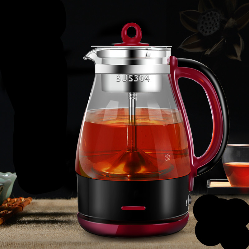 Brew tea pot black electric pu 'er automatic glass raised teap Safety Auto-Off Function c pe030 promotions 100g chinese yunnan pu er tea cooked tea pu er tea rose flavor tea slimming health green food
