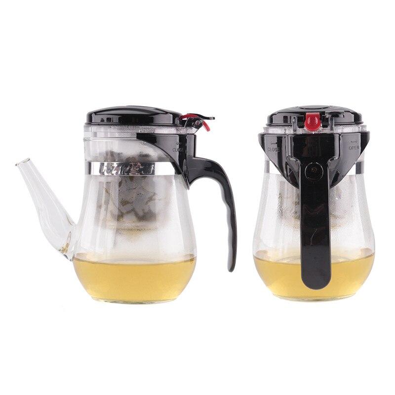 Chinese 500ml <font><b>Glass</b></font> Make Teapot Tea Pot Set Teakettle Barware Tableware Teas Bar Tools Products Gift Heat Resistant For Office