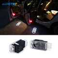 2X Car LED Courtesy Door Logo Projector Light Ghost Shadow Lights For Audi A3 8L 8V 8P S3 RS RS3 Sline Quattro 1.8T