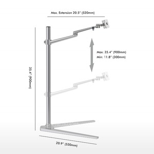 Image 4 - Tablet Floor Stand, Height Adjustable Aluminum Holder Support 3.5~6 Phone and 7~13 Tablet for iPhone iPad Air Mini Pro Stand
